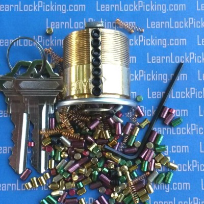 7 pin lock picking practice lock