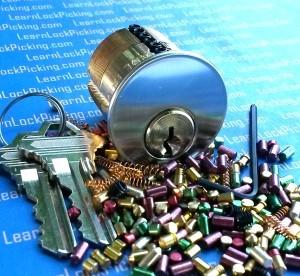 7 pin lock picking practice lock
