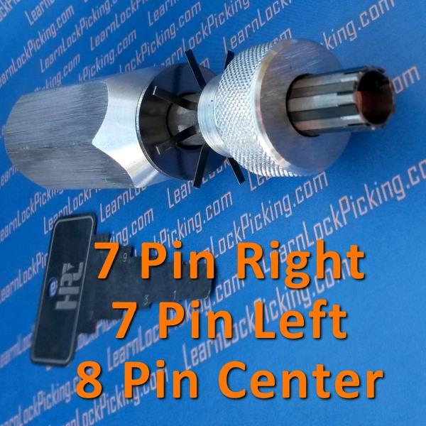 Tubular Lock Pick 7 Pin Left 7 Pin Right And 8 Pin