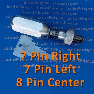 7 pin offset and 8 pin tubular lock pick