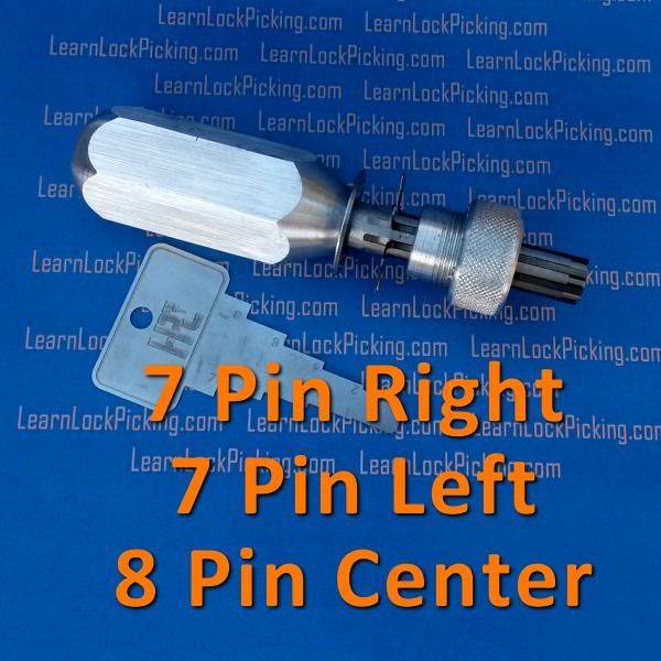 Tubular Lock Pick 7 Pin Left 7 Pin Right And 8 Pin