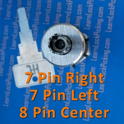 7 pin offset and 8 pin tubular lock pick