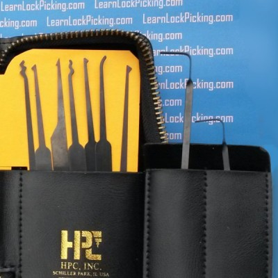 close up 16 piece deluxe lock pick set