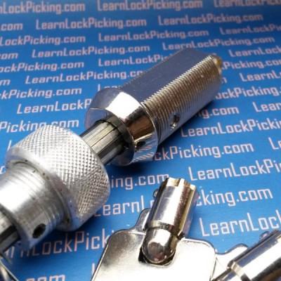tubular practice lock for lock picking