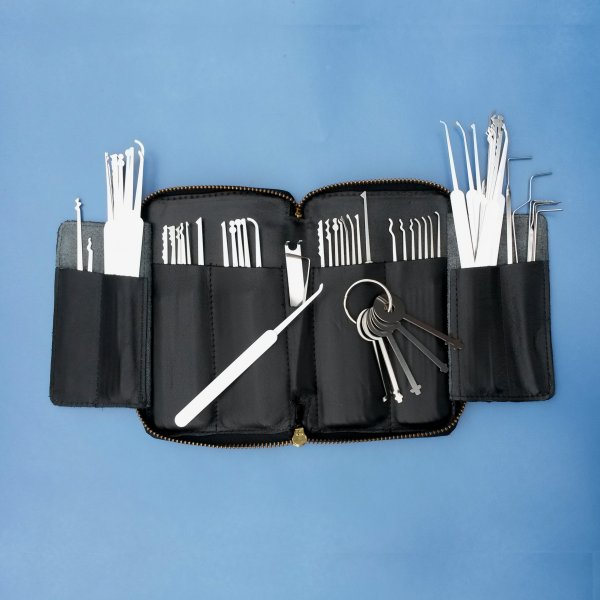 sixty nine piece lock pick set. Black Bedroom Furniture Sets. Home Design Ideas