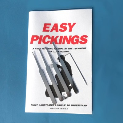5 piece lock pick set with instruction manual