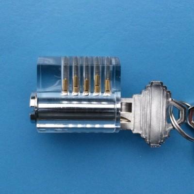 Visible cutaway lock picking practice lock
