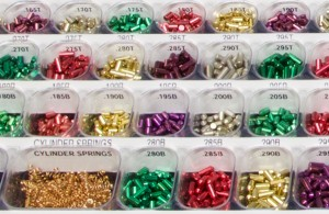 Assorment of pins in rekeying kit