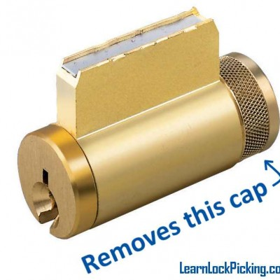Lock cylinder cap removal tool